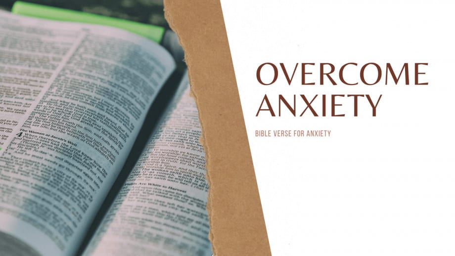 BIBLE VERSE FOR ANXIETY